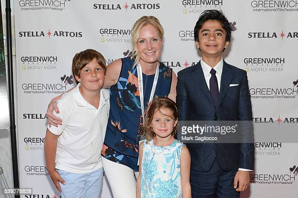 Wallace deVeer GIFF Founder Colleen deVeer Katy deVeer and 'The Jungle Book' Actor Neel Sethi attend the 2016 Greenwich International Film Festival...