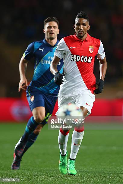 Wallace of AS Monaco during the UEFA Champions League Round of Sixteen 2nd Leg match between AS Monaco and Arsenal at Stade Louis II on March 17 2015...