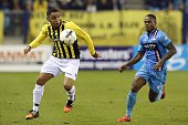 Wallace of Vitesse Terell Ondaan of Willem II during the Dutch Eredivisie match between Vitesse Arnhem and Willem II Tilburg at Gelredome on February...