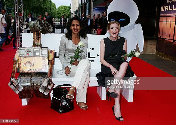'WallE' Premiere In Paris France On July 17 2008 Audrey Pulvar and Nathalie Kosciusko Morizet French Secretary of State for Ecology
