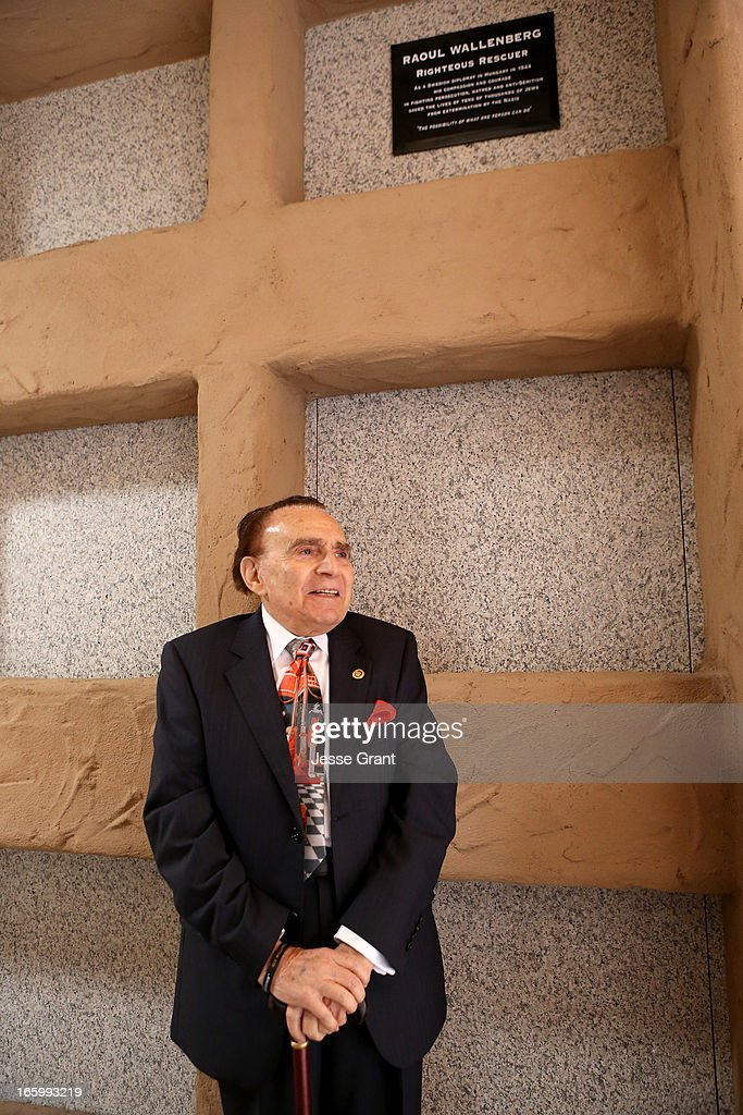 Wallenberg survivor/rescuer Andrew Stevens attends the Six Million Coins Initiative Launch for Holocaust Remembrance Day at Mount Sinai - Simi Valley on April 7, 2013 in Simi Valley, California.