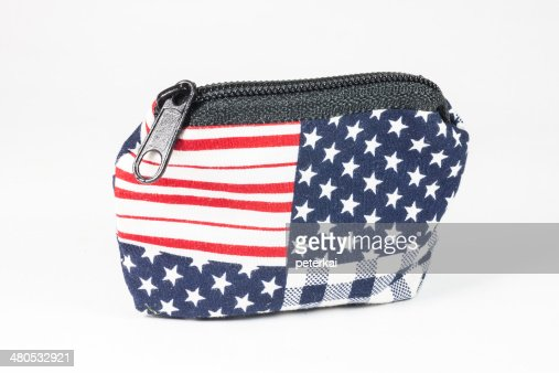 Wallet American flag : Stock Photo