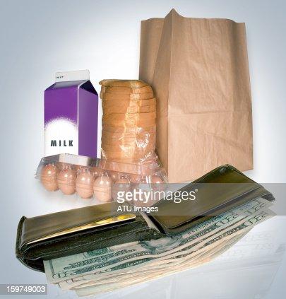 wallet food : Bildbanksbilder