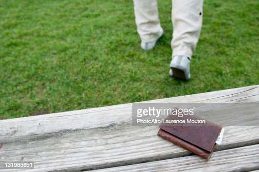 Wallet left on park bench
