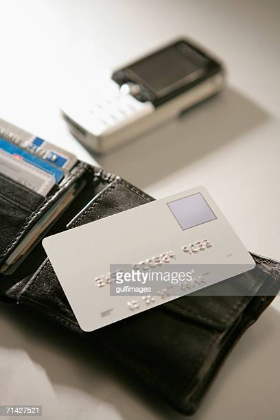 Wallet showing a Credit Card