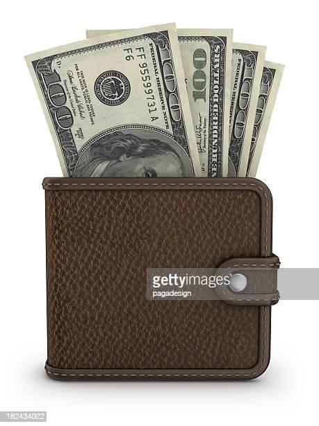 Portadocumentos con dólares