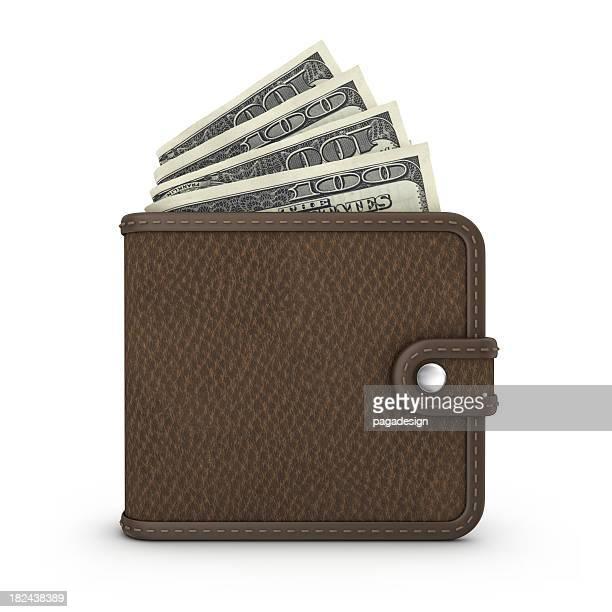 Geldbeutel mit Dollar