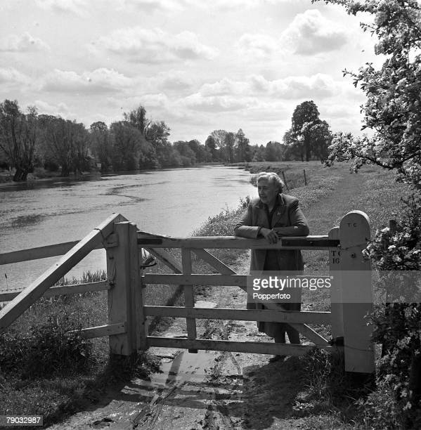 Wallingford Berkshire England British author Agatha Christie is pictured in the grounds of her home Winterbrook House