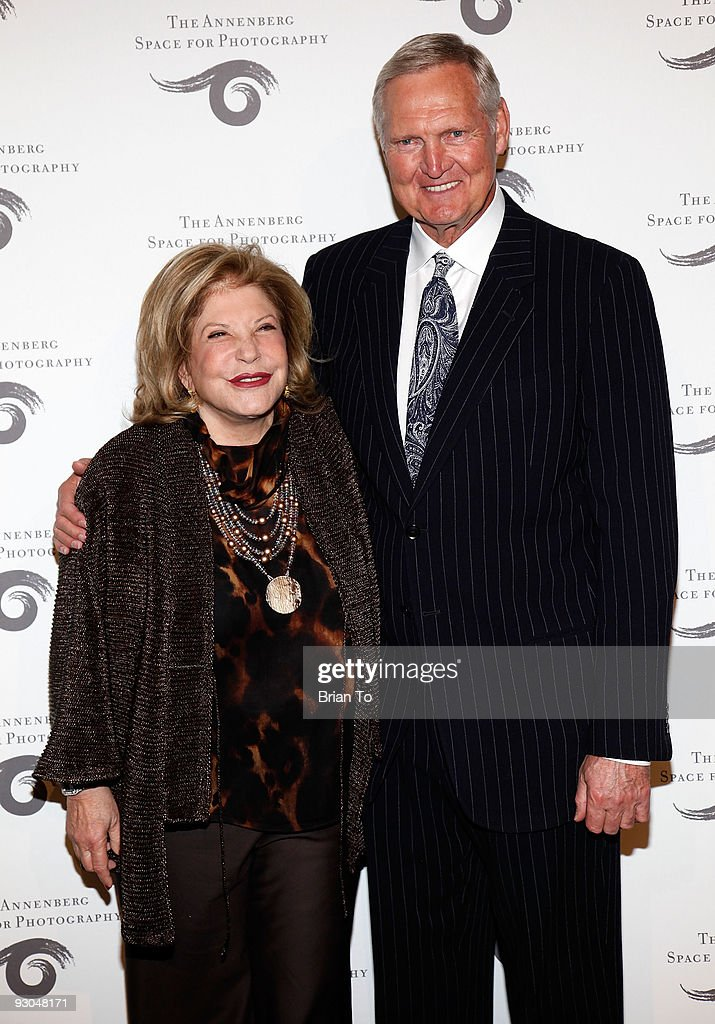 Wallis Annenberg and Jerry West attend 'Sport Iooss and Leifer' Exhibit Opening at The Annenberg Space For Photography on November 13 2009 in Century...