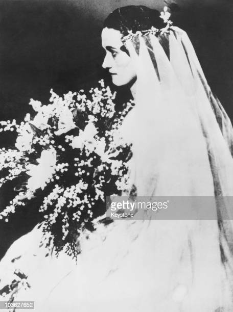 Wallis the future Duchess of Windsor during her wedding to Earl Winfield Spencer Jr in Baltimore 8th November 1916