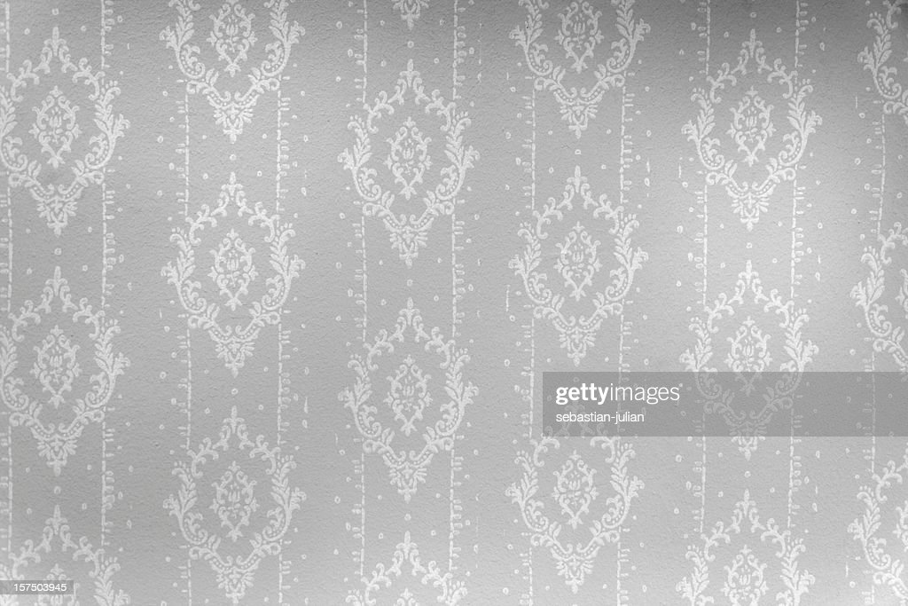 wallpaper in black and white with ornaments : Stock Photo