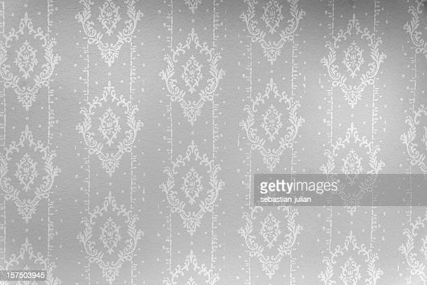 wallpaper in black and white with ornaments