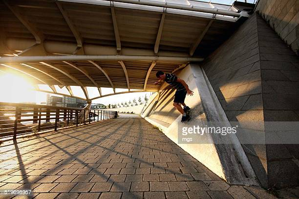 Wallride at sunset