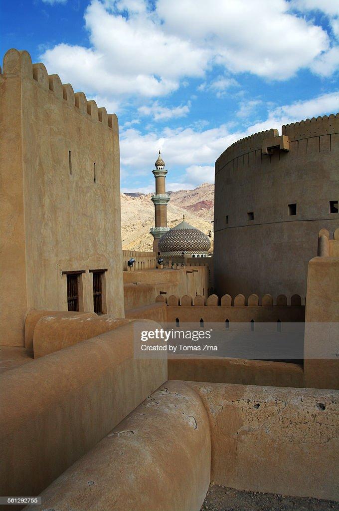 Walls and shapes of Nizwa fort