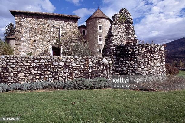 Walls of Bayard castle Pontcharra RhoneAlpes France 15th century