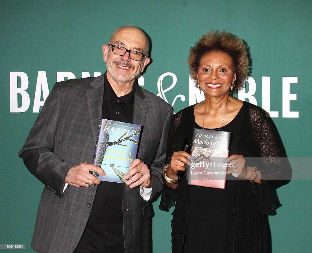 Wally Lamb and Leslie Uggams attend Harper Lee celebration at Barnes & Noble Union Square on July 13, 2015 in New York City.