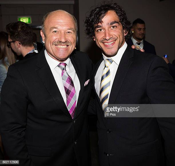 Wally Lewis and Johnathan Thurston attend The Footy Show 2015 Grand Final episode filming at the Entertainment Centre on October 1 2015 in Sydney...
