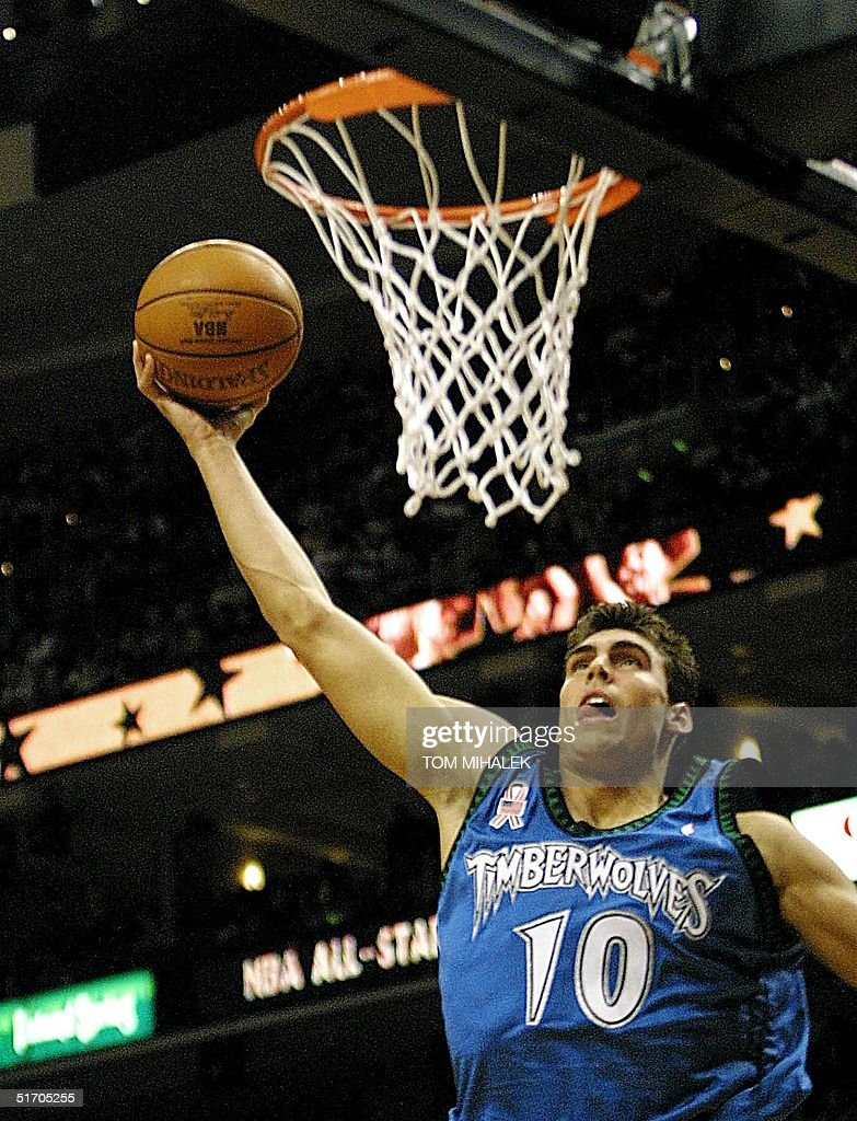 Wally Szczerbiak of the Minnesota Timberwolves p