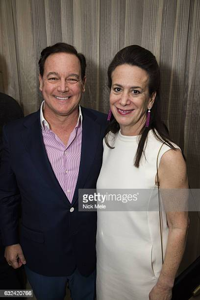 Wally Turner and Betsy Turner attend AVENUE Celebrates Kara Ross and the Palm Beach A List at Meat Market Palm Beach on January 19 2017 in Palm Beach...