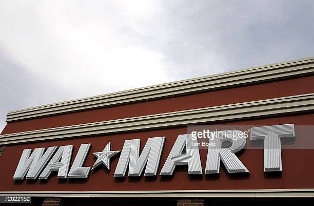 WalMart's logo embellishes its new store September 27 2006 in Chicago Illinois Chicago opened its first WalMart today in the wake of a defeated...