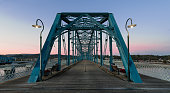 Walnut Street pedestrian Bridge across the Tennessee River in Chattanooga, Tennessee