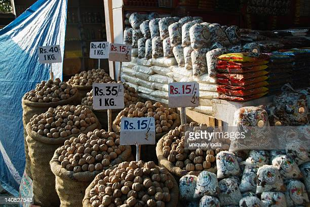 Walnuts at a market stall, Vaishno Devi, Katra, Jammu And Kashmir, India
