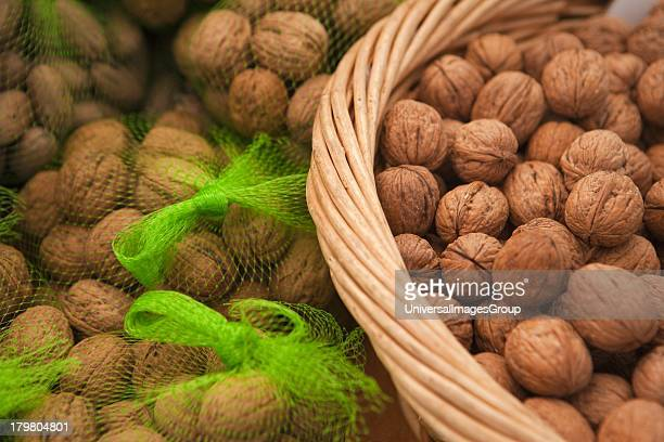 Walnuts for sale at the Farmers Market Santa Barbara California