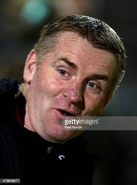 Walsall manager Dean Smith looks on during the Sky Bet League One match between Coventry City and Walsall at Sixfields Stadium on March 5 2014 in...