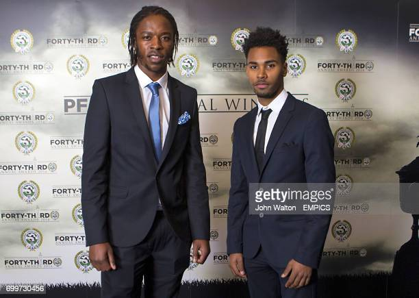 Walsall's Romain Sawyers and Rico Henry during the PFA Awards at the Grosvenor House Hotel Londonarriving for the PFA Awards at the Grosvenor House...