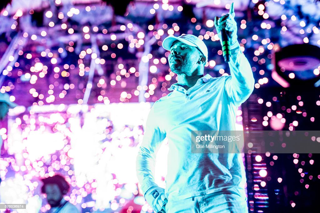 Walshy Fire of Major Lazer perfoms during the Major Lazer headline show at the end of Day 1 of Lovebox Festival at Victoria Park on July 15, 2016 in London, England.