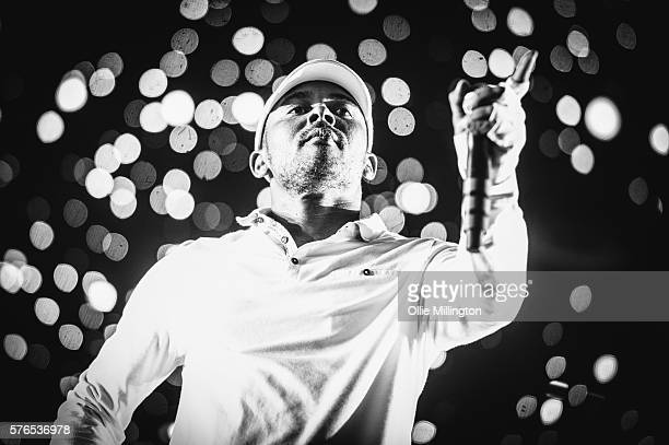 Walshy Fire of Major Lazer perfoms during the Major Lazer headline show at the end of Day 1 of Lovebox Festival at Victoria Park on July 15 2016 in...