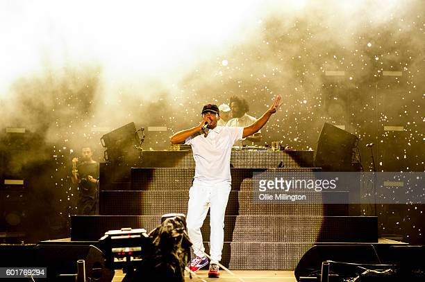 Walshy Fire of Major Lazer performs onstage headlining The Main stage at the end of Day 2 of Bestival 2016 at Robin Hill Country Park on September 10...