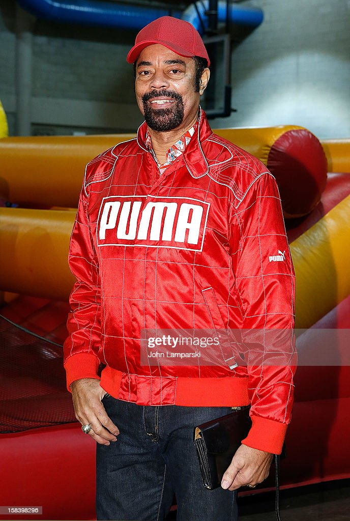 Walt 'Clyde' Frazier attends The Police Athletic League And CitySights NY Holiday Party And Toy Drive at PAL's Harlem Center on December 15, 2012 in New York City.