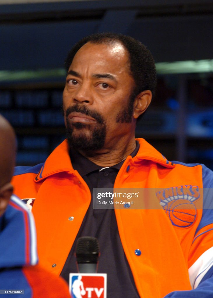 Walt 'Clyde' Frazier during NBA Legends Launch 2005 Destination Finals Tour April 21 2005 at NBA Store in New York City New York United States