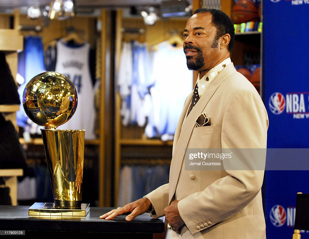 Walt 'Clyde' Frazier during NBA Legends Scottie Pippen and Walt 'Clyde' Frazier Announce 2006 Finals Trophy Tour at NBA Store in New York City New...
