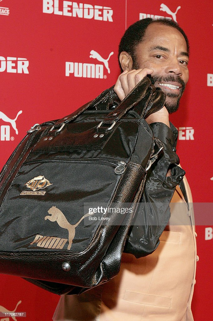 Walt 'Clyde' Frazier during PUMA and Blender Magazine Present Ludacris and Walt 'Clyde' Frazier to Launch 'PUMA Suede' February 18 2006 at Houston...