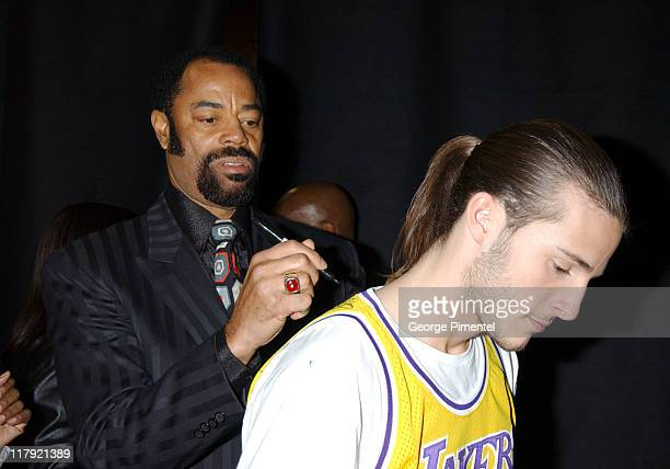 Walt 'Clyde' Frazier during TNT Sports Presents the American Express 'Magic' Johnson All Star Celebration at Shrine Auditorium in Los Angeles...