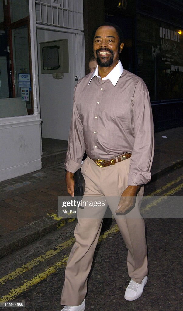 Walt 'Clyde' Frazier during Walt 'Clyde' Frazier Sighting at Covent Garden in London October 11 2005 at Covent Garden in London Great Britain
