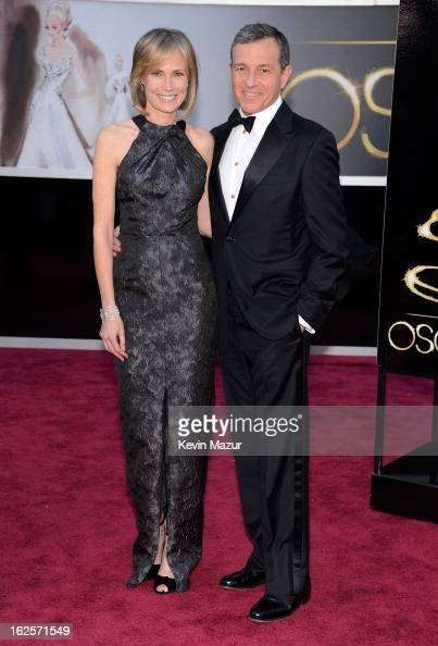 Walt Disney Co President/CEO Bob Iger and wife Willow Bay arrive at the Oscars held at Hollywood Highland Center on February 24 2013 in Hollywood...