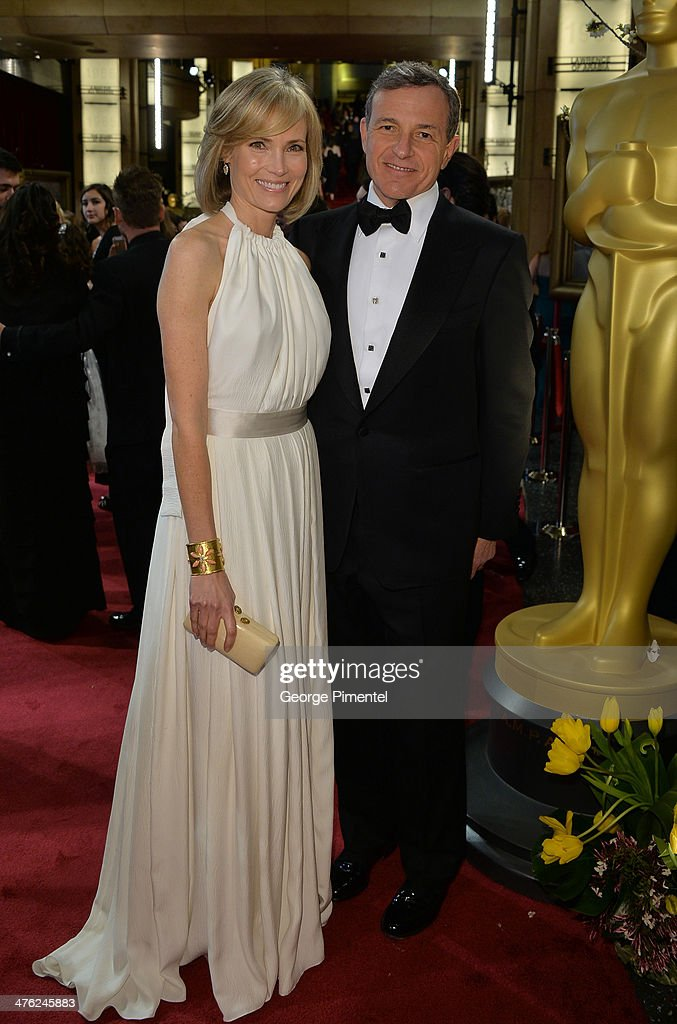 Walt Disney Company CEO <a gi-track='captionPersonalityLinkClicked' href=/galleries/search?phrase=Bob+Iger&family=editorial&specificpeople=171211 ng-click='$event.stopPropagation()'>Bob Iger</a> (R) attends the Oscars held at Hollywood & Highland Center on March 2, 2014 in Hollywood, California.