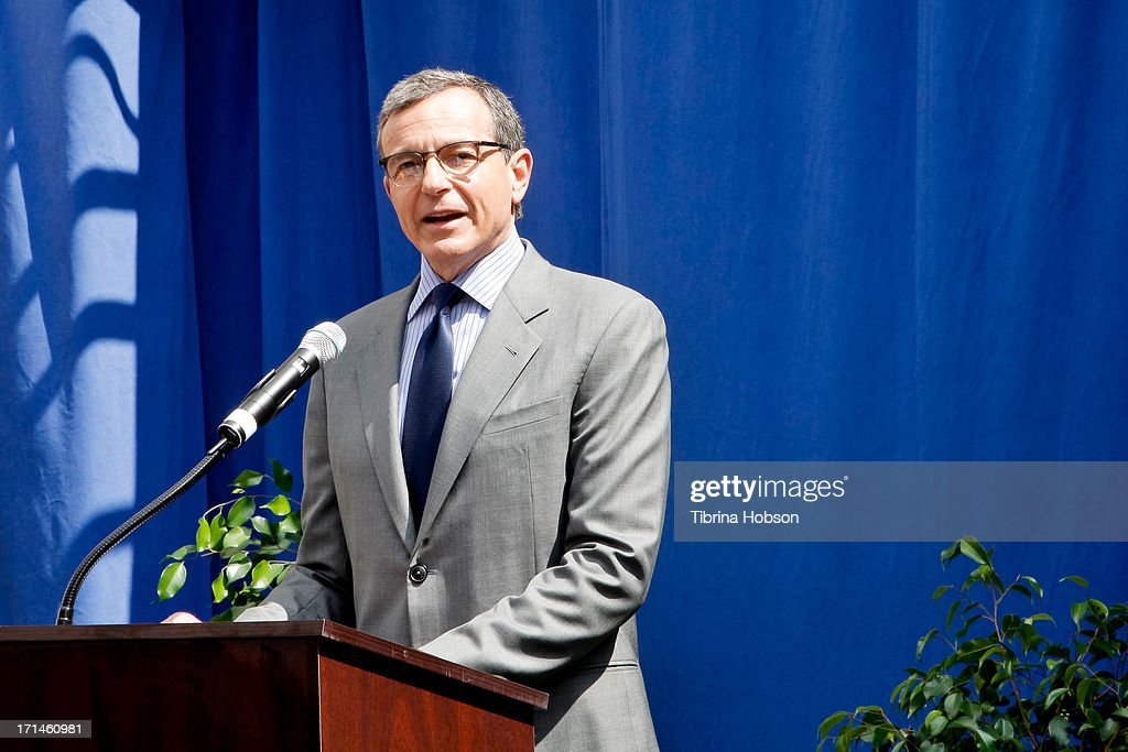 Walt Disney Company CEO <a gi-track='captionPersonalityLinkClicked' href=/galleries/search?phrase=Bob+Iger&family=editorial&specificpeople=171211 ng-click='$event.stopPropagation()'>Bob Iger</a> hosts the stage one rededication ceremony honoring 'America's Sweetheart' Annette Funicello at Walt Disney Studios on June 24, 2013 in Burbank, California.