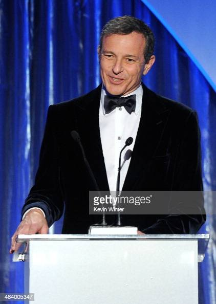 Walt Disney Company Chairman and CEO Bob Iger accepts the Milestone Award onstage during the 25th annual Producers Guild of America Awards at The...