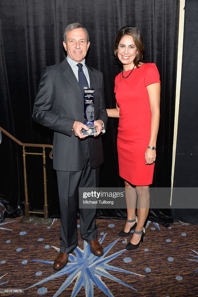 Walt Disney Company Chairman Bob Iger and news correspondent Cecelia Vega attend the 2013 John Wooden Global Leadership Awards hosted by the UCLA Anderson School of Management at The Beverly Hilton Hotel on November 21, 2013 in Beverly Hills, California.