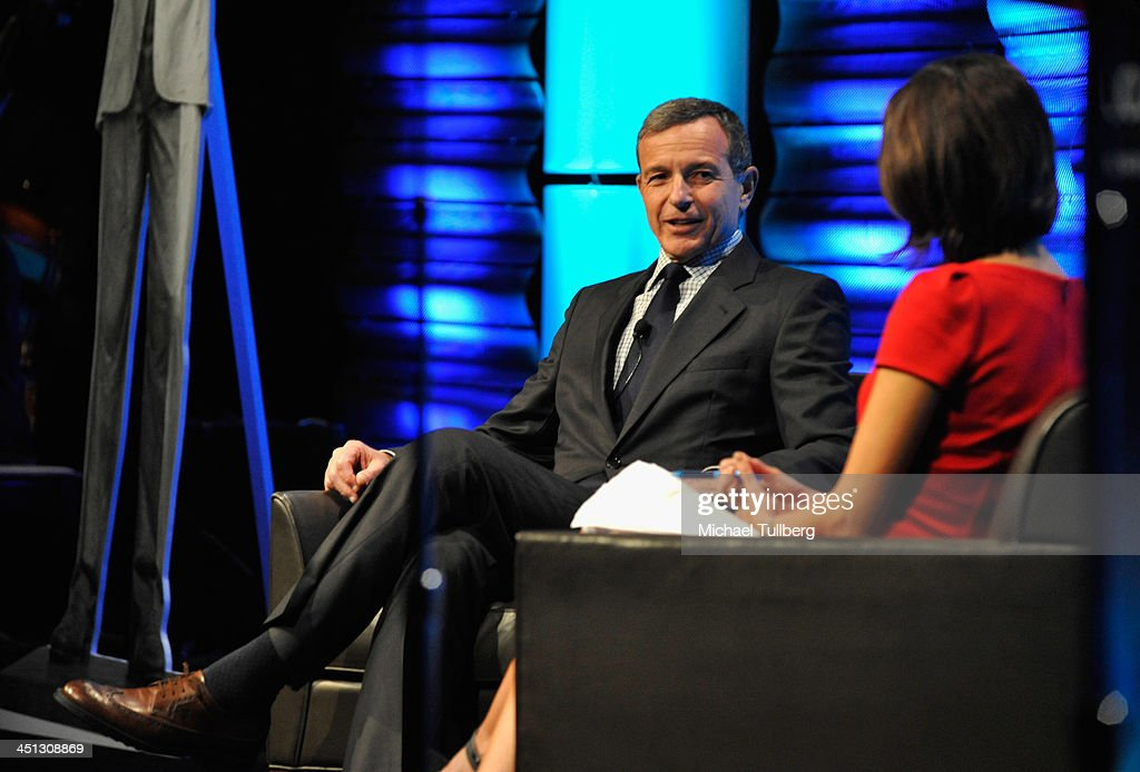Walt Disney Company Chairman Bob Iger speaks at the 2013 John Wooden Global Leadership Awards hosted by the UCLA Anderson School of Management at The Beverly Hilton Hotel on November 21, 2013 in Beverly Hills, California.