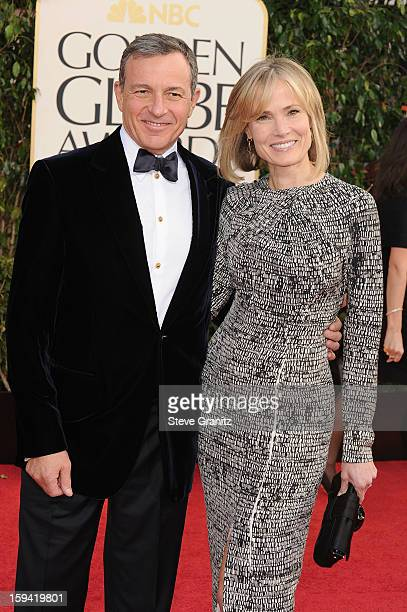 Walt Disney Company Chairman/CEO Robert Iger and TV personality Willow Bay arrive at the 70th Annual Golden Globe Awards held at The Beverly Hilton...