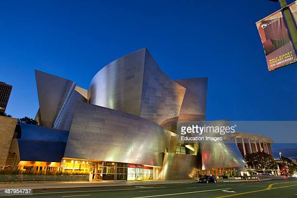 Walt Disney Concert Hall by Frank Gehry Los Angeles Music Center Grand Avenue Downtown Los Angeles California