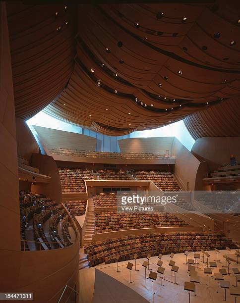 Walt Disney Concert Hall Los Angeles United States Architect Frank Gehry Walt Disney Concert Hall Portrait View Toward Back Of Hall And Seating
