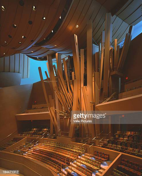 Walt Disney Concert Hall Los Angeles United States Architect Frank Gehry Walt Disney Concert Hall Oblique View Of Organ