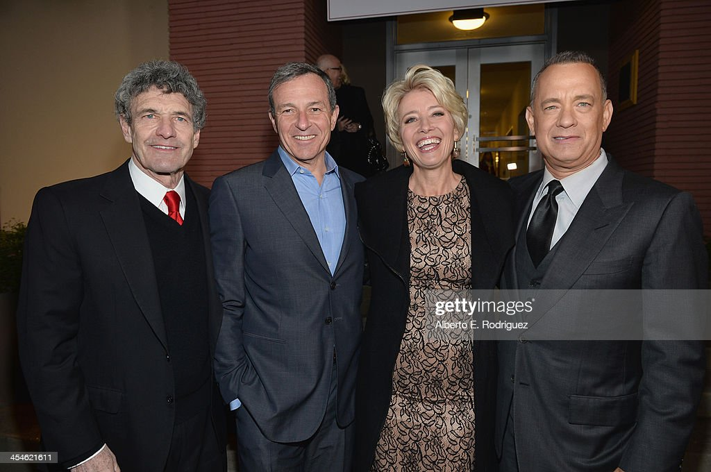 Walt Disney Studios chairman Alan Horn Chairman and Chief Executive Officer of the Walt Disney Company Bob Iger actress Emma Thompson and actor Tom...