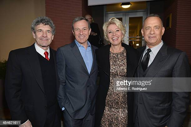 Walt Disney Studios chairman Alan Horn Chairman and Chief Executive Officer of the Walt Disney Company Bob Iger actress Emma Thompson and actor Tom...